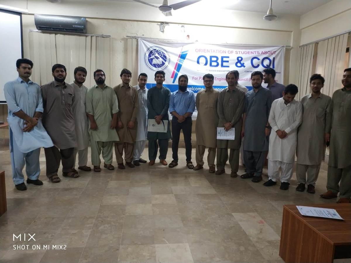 Orientation of Students about OBE and CQI training